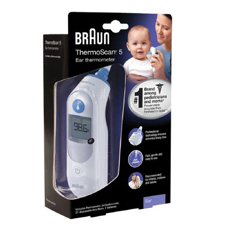 Braun Thermoscan 5 Ear Thermometer For Infants, Children And Adults -  1 Ea