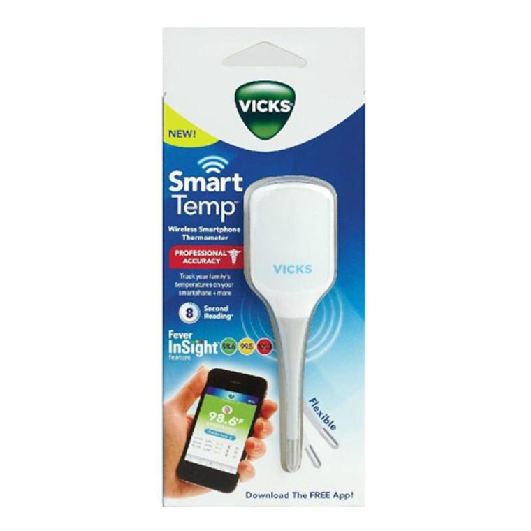 Vicks Smart Temp Professional Accuracy Wireless Smartphone Thermometer, 1 Ea