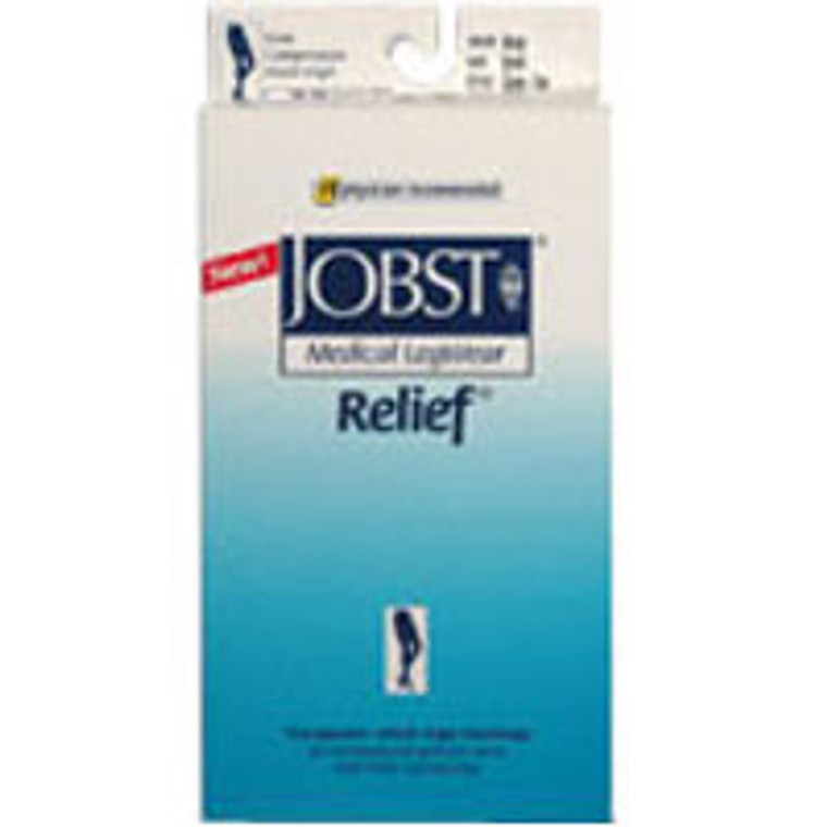 Jobst Medical Legwear Stockings Relief Compression Thigh High 20-30 Mm/Hg Closed Toe Beige Color, Large - 1 Ea