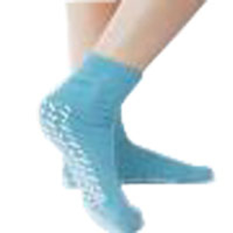Terrycloth Single Tread Slippers Of Size: Large, Blue Color - 1 Pair