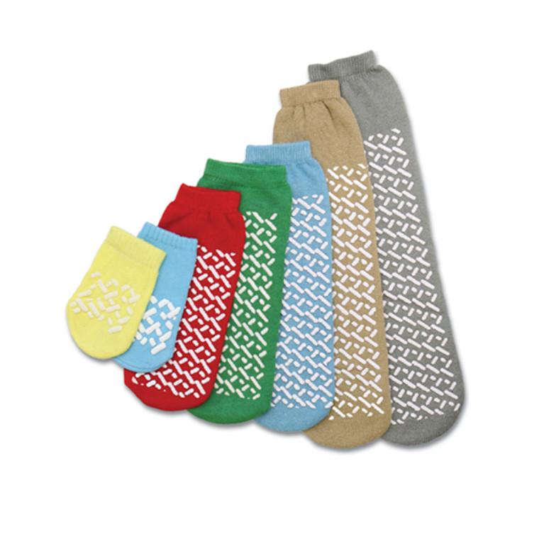 Medline Single Tread Slipper Socks, Disposable Beige X-Lrg - 1 Pair