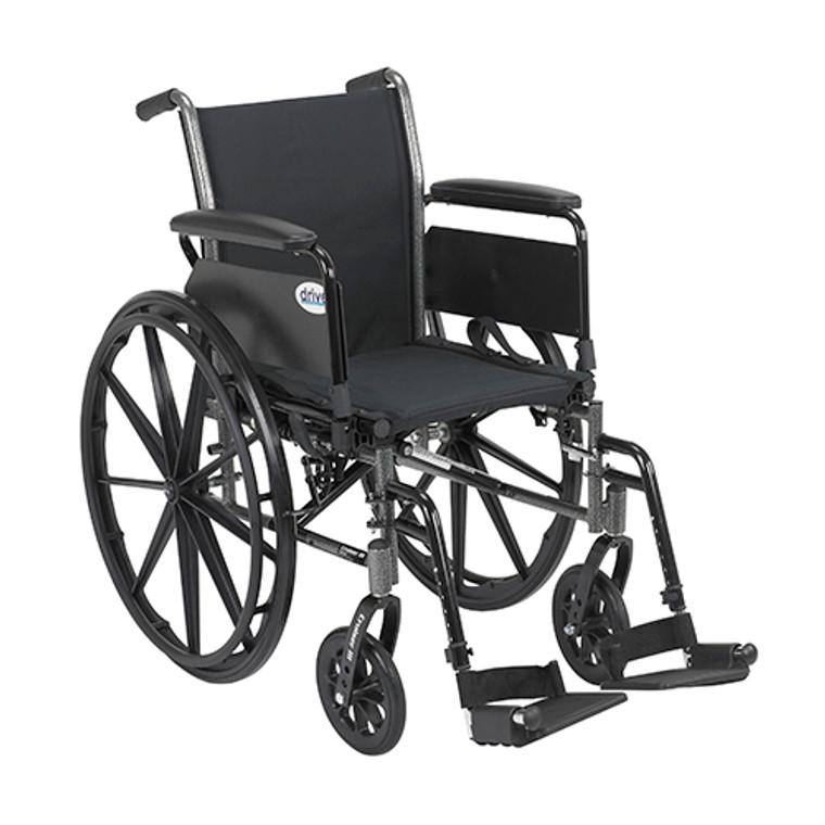 Drive Medical Cruiser Iii Wheelchair 20 Inches Flip Back Detachable Full Arms Swing-Away Footrest - 1 Ea, K320Dfa-Sf