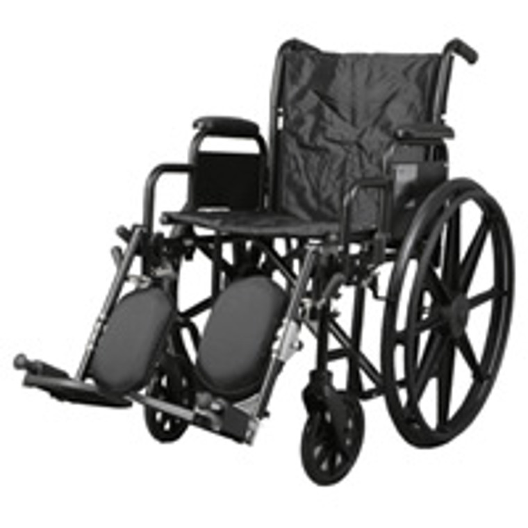 Medline Excel K1 Basic 18 Inch Wheelchair With Desk-Length Arms - 1 Ea