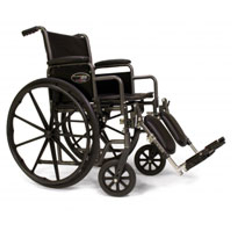 Graham Field Traveler Se Wheelchair With 18 X 16 Detachable Full Arm And Swingaway Footrest, Model #3E010130 - 1 Ea