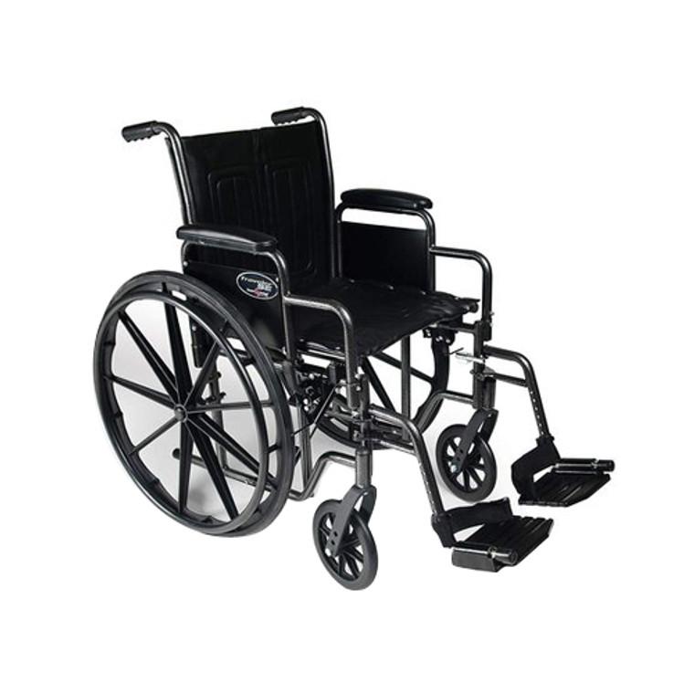 Graham Field Traveler SE Traveler Wheel Chair (Model No: 3E01020)18x16 Detachable Desk Arm, Swingaway Footrest, 1 Ea