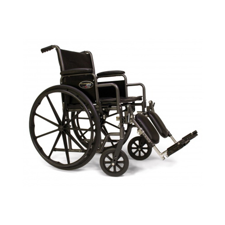Graham Field Traveler Se Removable Arm Wheelchair With Swingaway Footrest # 3E010320 - 1 Ea