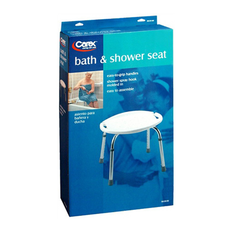 Apex-Carex Bath Bench Without Back, Adjustable, Model # B650-00, 1 Ea