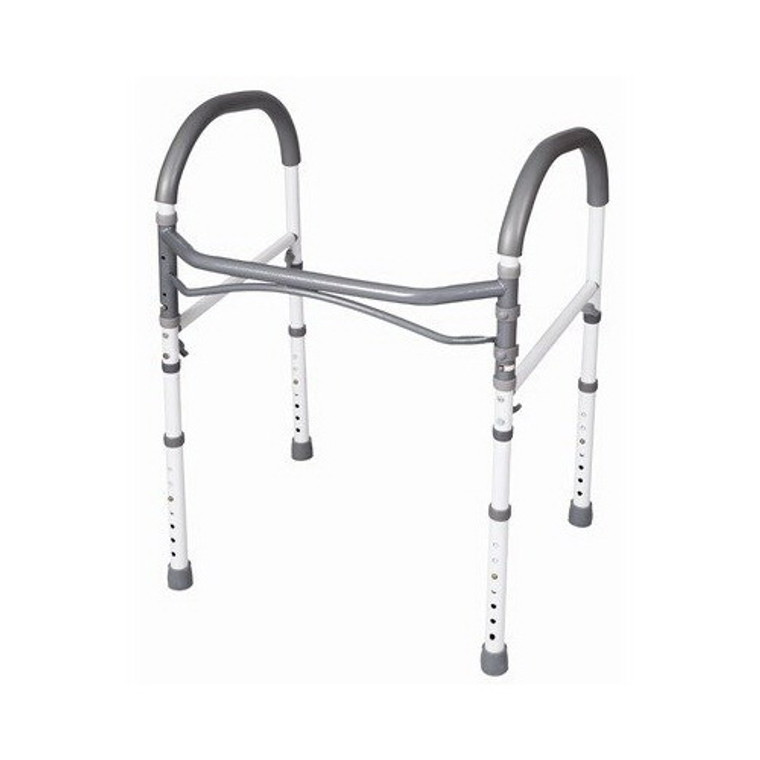 Carex Bathroom Safety Rail, Height Adjust Legs 27 - 33 Inches - 1 Ea