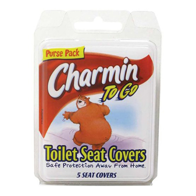 Charmin To Go Toilet Seat Covers Tissue, 6 Pack, 5 covers/Pack