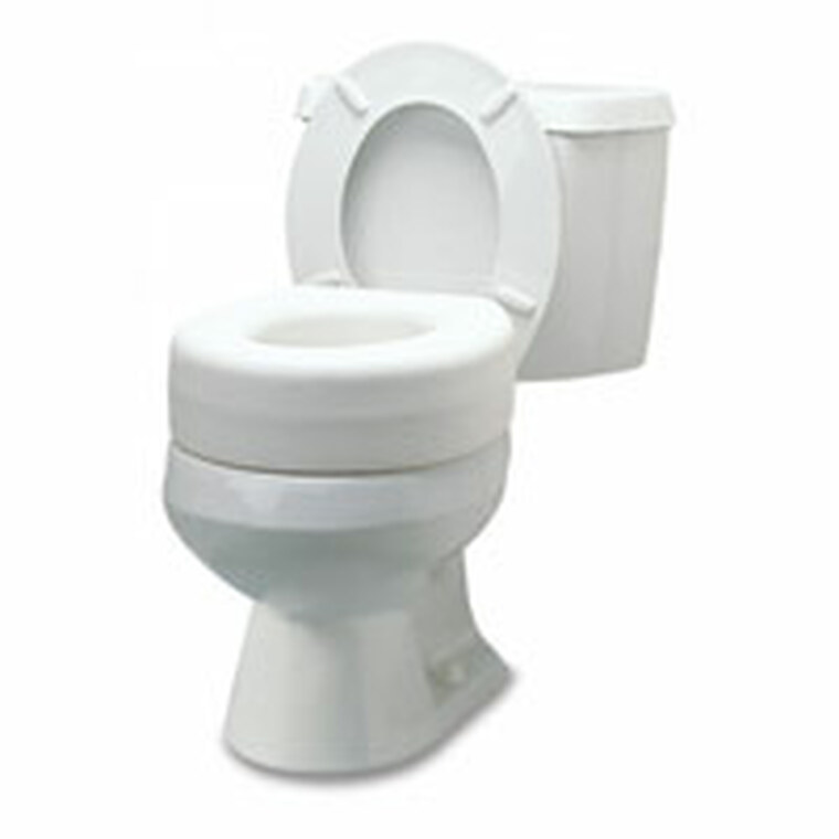 Graham Field Plastic Raised Toilet Seat, White, Model #6909A - 1 Ea