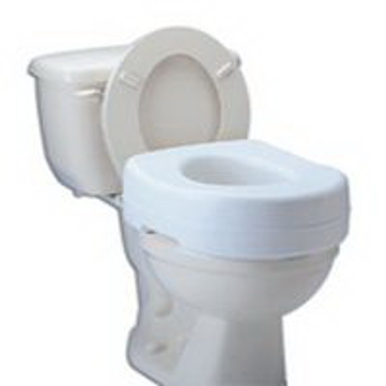 Raised Toilet Seat With Blow Molded, Model: B310-00, By Apex-Carex - 1 Ea