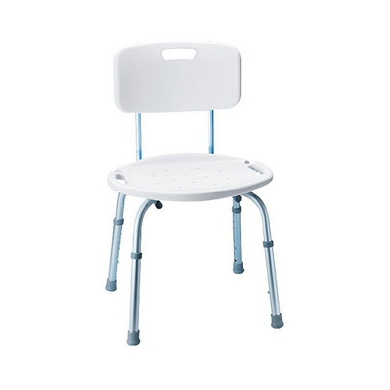 Carex Adjustable Bath And Shower Seat With Back, Model No:B651 - 1 Ea