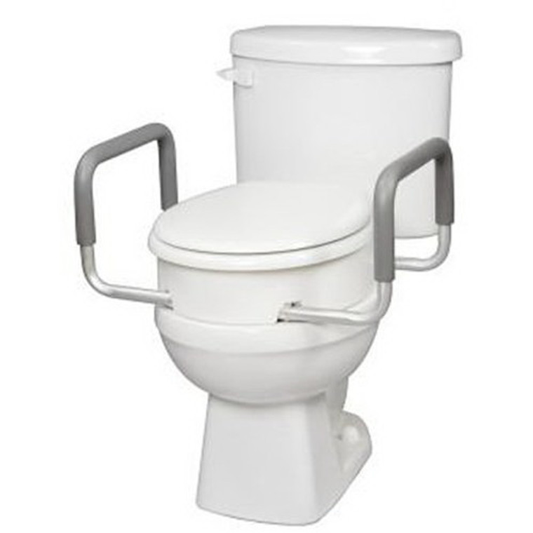 Carex Toilet Seat Elevator With Handles For Elongated Toilets - 1 Ea
