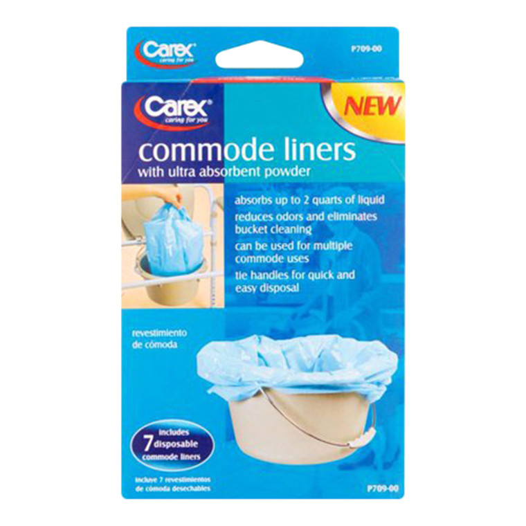Carex Health Brands Commode Liners, 7 Ea