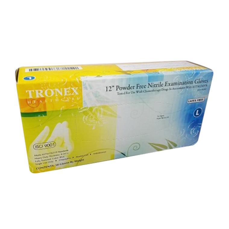 Tronex Health Care Nitrile Examination Gloves Powder Free, Large, 50 Ea