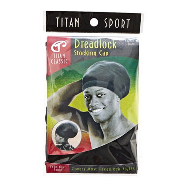 Titan Classic Dreadlock Stocking Cap, Black, 1 ea