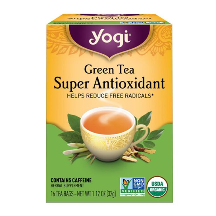Yogi Green Tea Super Antioxidant Herbal Supplement Tea Bags - 16 Ea