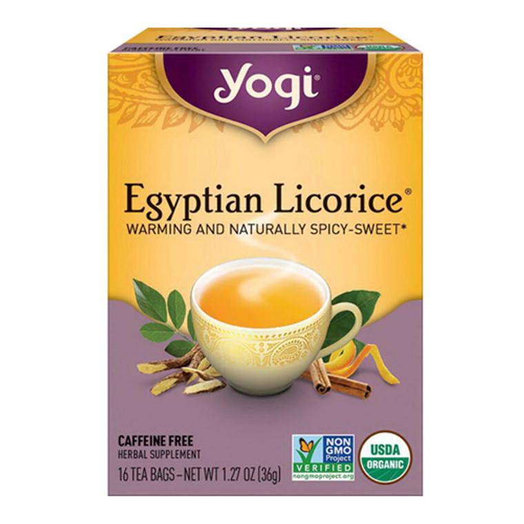 Yogi Egyptian Licorice Herbal Supplement Tea Bags - 16 Ea