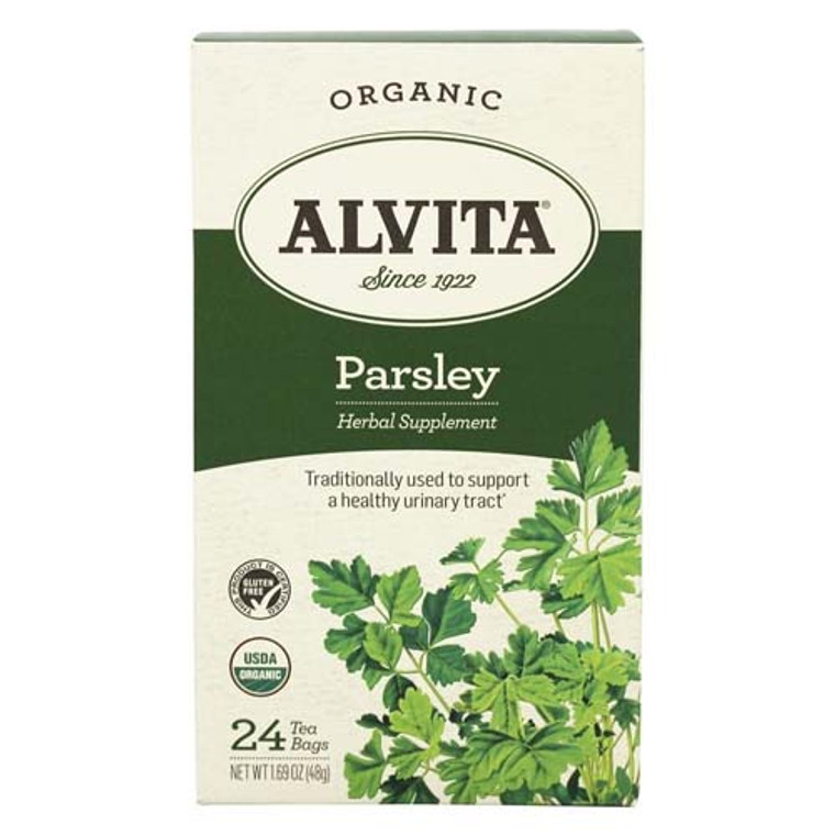 Alvita Teas Organic Caffeine Free Parsley Tea Bags - 24 Ea