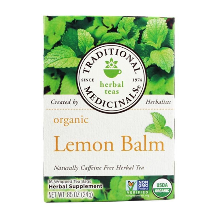 Traditional Medicinals Organic Herbal Tea, Lemon Balm, 16 Tea Bags