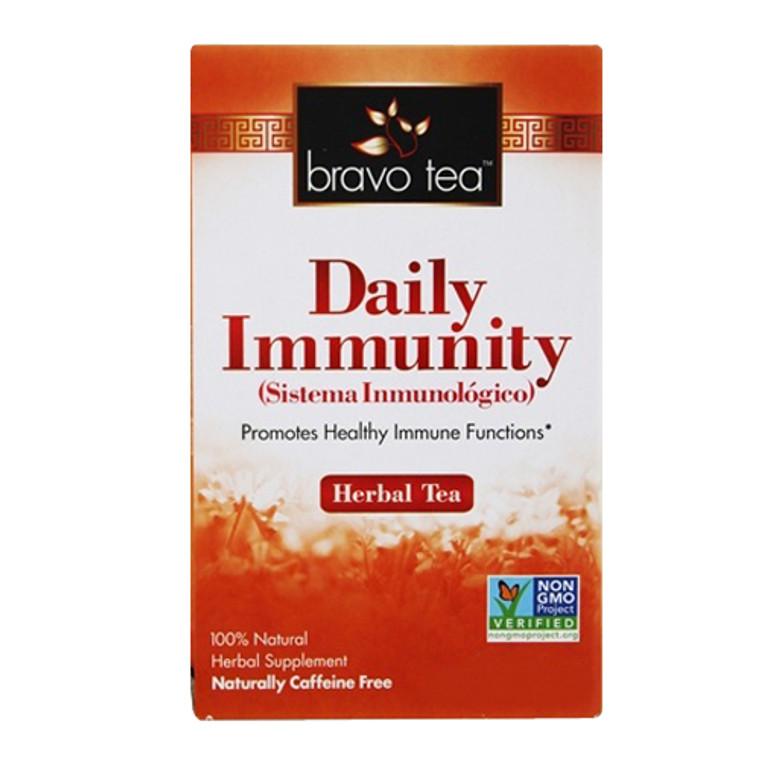 Bravo Tea Daily Immunity 100% Natural Herbal Supplement Tea Bags, 72 Ea