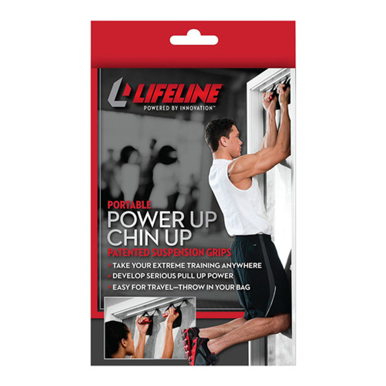 Lifeline Fitness Portable Power Up Chin-up Patented Easy Suspension Grips, 1 ea