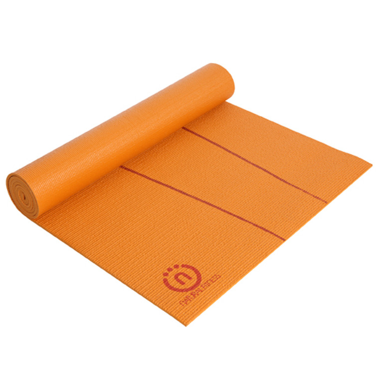 Natural Fitness Eco Smart Yoga Mat Orange and Red 24 inchx 69-Inch x 6-mm, 1 Ea