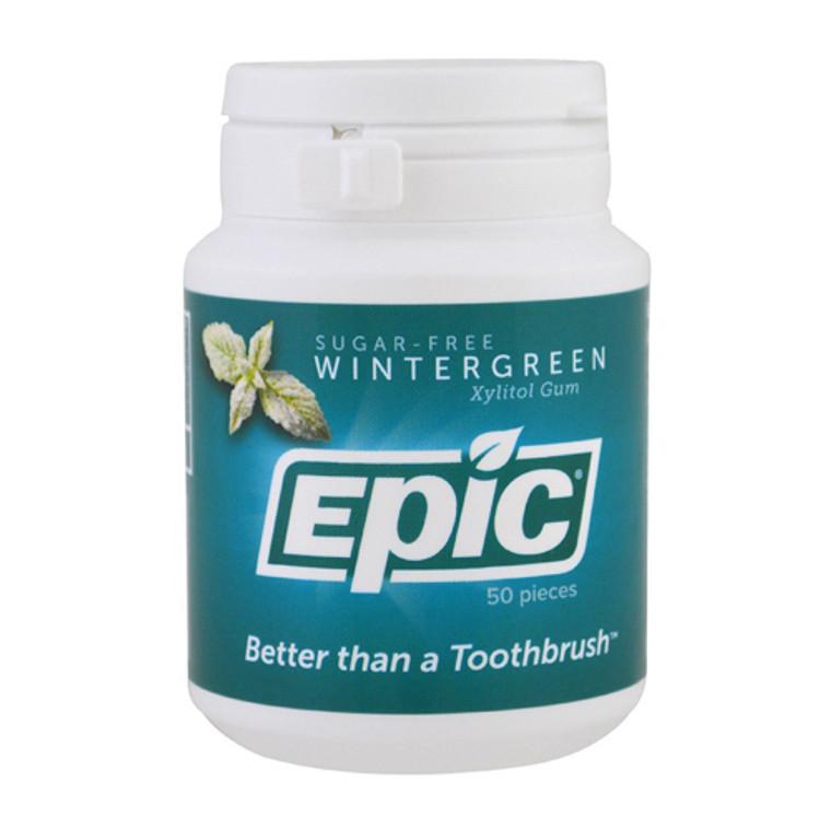 Epic Dental Wintergreen Sugar Free Xylitol Gum, 50 Ea