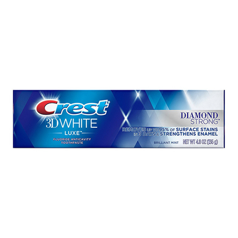 Crest 3D White Luxe Diamond Strong Toothpaste, Brilliant Mint, 4.8 Oz