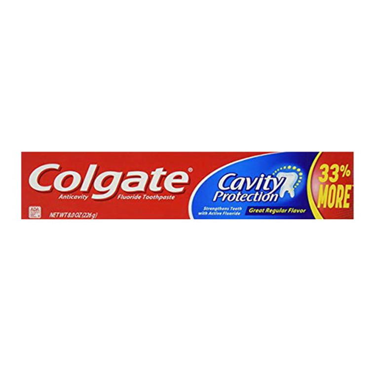 Colgate Anticavity Fluoride Toothpaste, Cavity Protection, 8 Oz