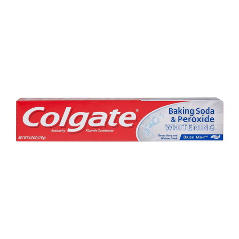 Colgate Anticavity Baking Soda and Peroxide Whitening Bubbles Fluoride Toothpaste, Brisk Mint, 6 Oz
