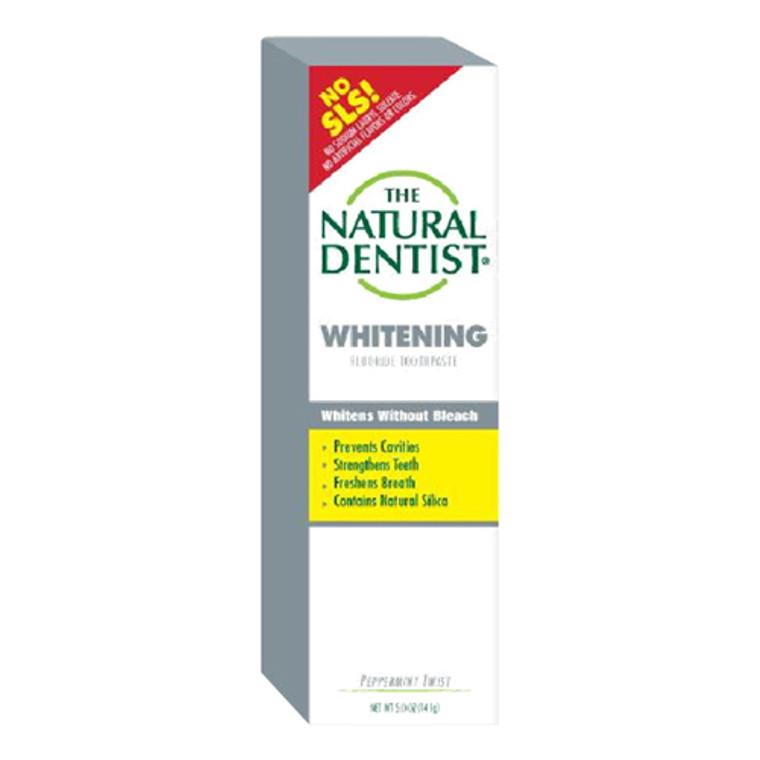 Natural Dentist Whitening Fluoride Toothpaste, Peppermint Twist - 5 Oz