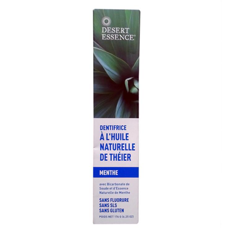 Desert Essence Natural Tea Tree Oil Toothpaste With Baking Soda, Mint - 6.25 Oz
