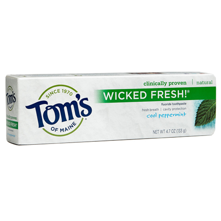 Toms Of Maine Wicked Fresh Toothpaste, Cool Peppermint - 4.7 Oz