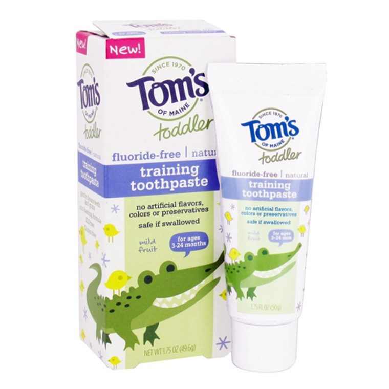 Toms of Maine Toddlers  Natural Toothpaste, Mild Fruit, Fluoride-Free - 1.75 oz