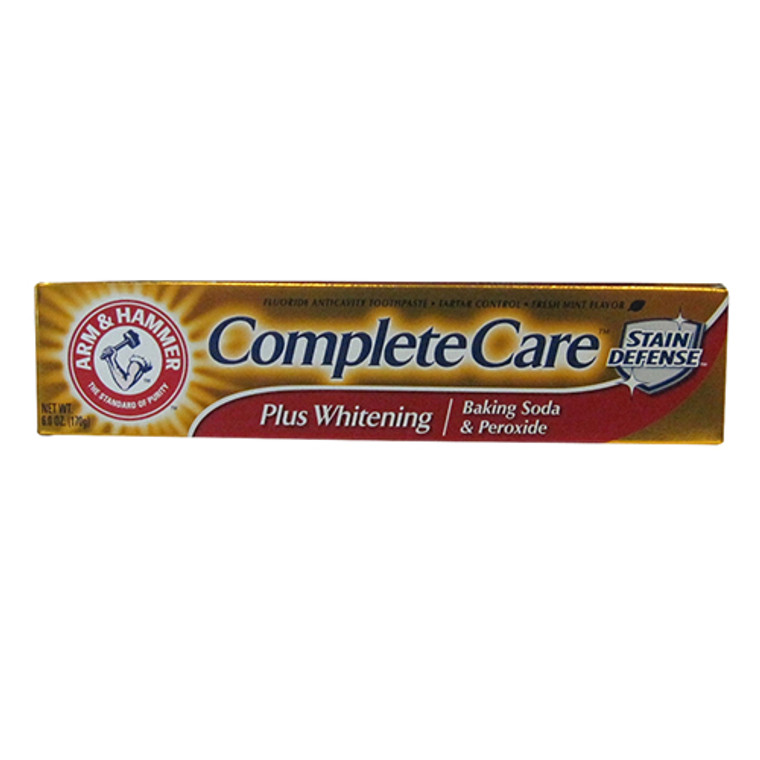 Arm & Hammer Complete Care Fluoride Toothpaste Plus Extra Whitening, Mint - 6 Oz