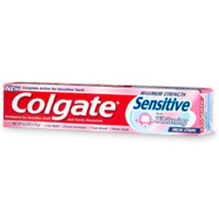 Colgate Sensitive Maximum Strength Sensitive Toothpaste, Plus Whitening And Fresh Stripe - 6 Oz
