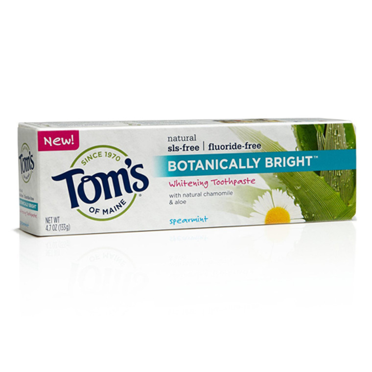 Toms Of Maine Botanically Bright Whitening Toothpaste, Spearmint - 4.7 Oz