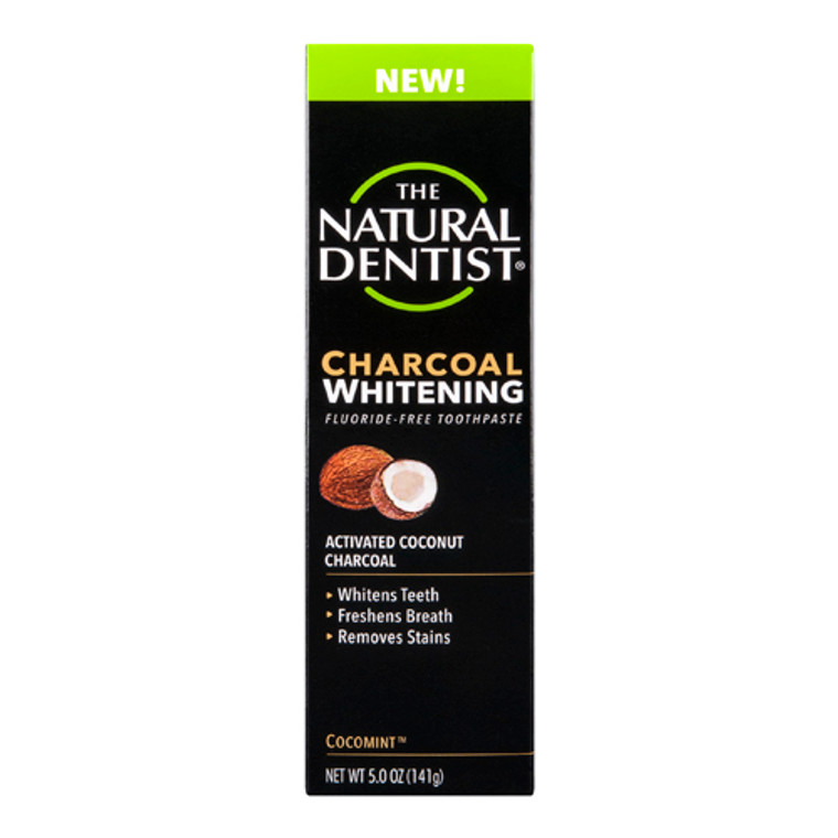 The Natural Dentist Charcoal Whitening Toothpaste, Activated Coconut Charcoal, 5 oz