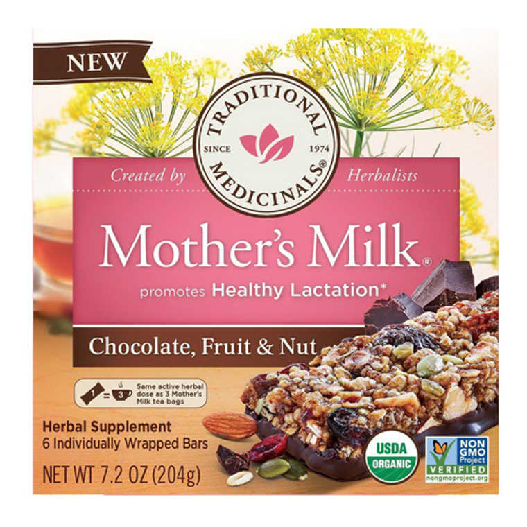 Mothers Milk Chocolate Fruit And Nut Bars By Traditional Medicinals, 6 Ea
