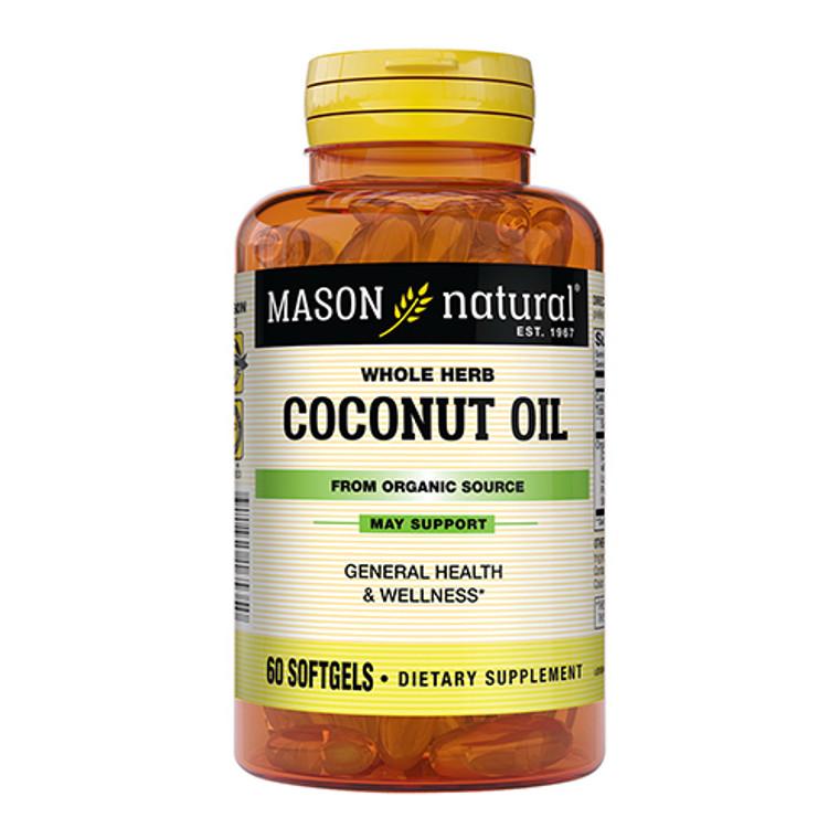 Mason Natural Organic Coconut Oil 1000Mg Softgels - 60 Ea