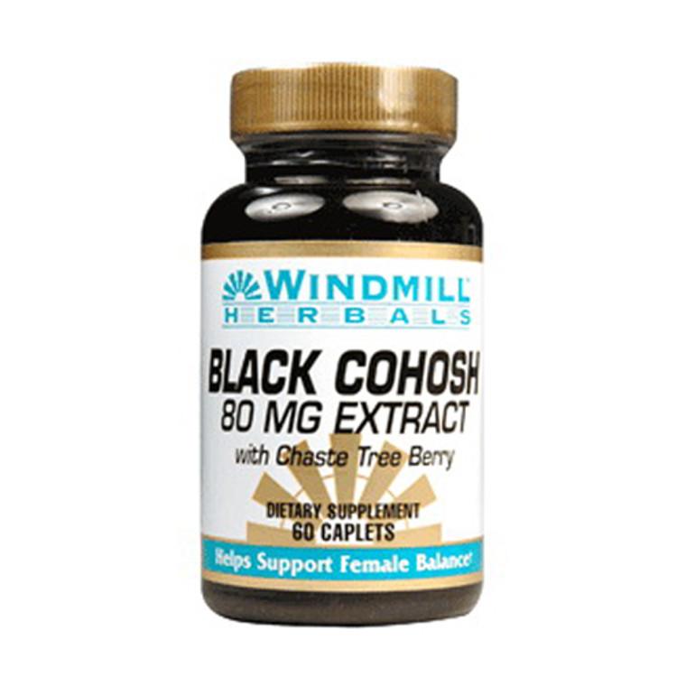 Windmill Herbals Black Cohosh 80 Mg Extract Caplets - 60 Ea