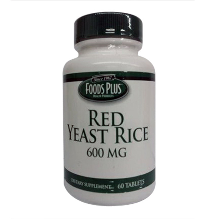 Food Plus Red Yeast Rice 600 Mg Tablets, 60 Ea