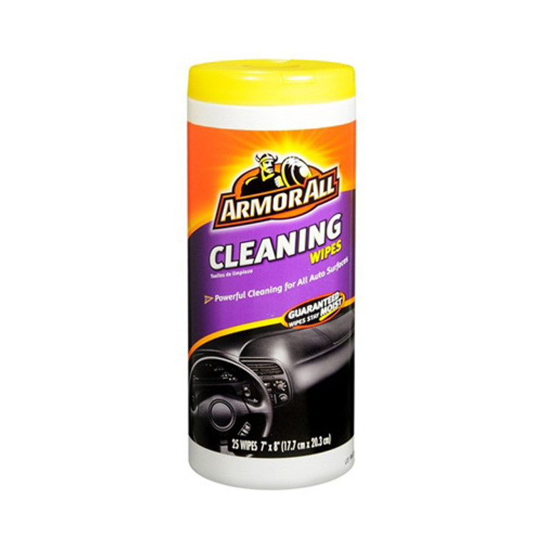 Armor All Powerful Car Cleaning Wipes For All Auto Surfaces - 25 Ea