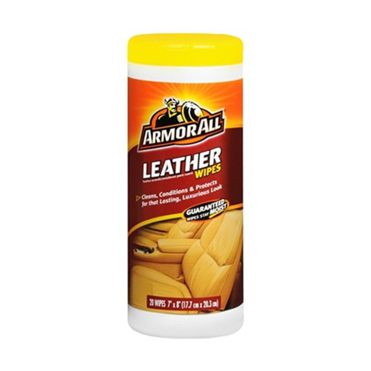 Armor All Leather Wipes, Conditions And Protects For Luxurious Look - 20 Ea