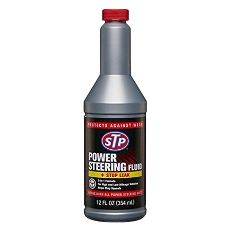 Stp Power Steering Fluid And Stop Leak - 12 Oz