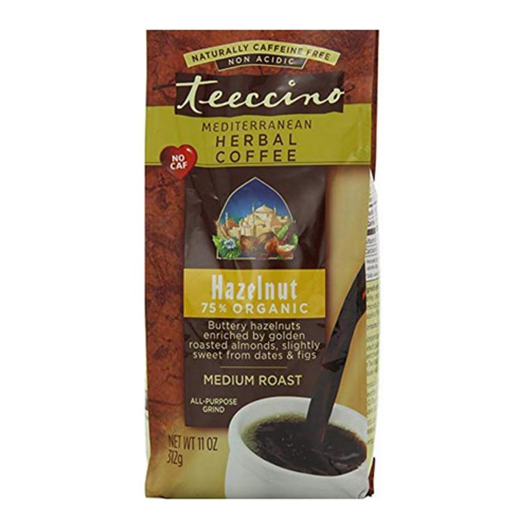 Teeccino Mediterranean Herbal Coffee Hazelnut, Medium Roast, 11 Oz