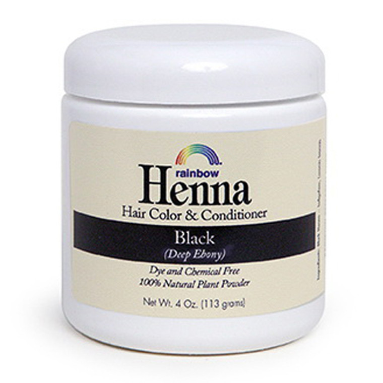 Rainbow Research Henna Hair Color And Conditioner, Black, 4 Oz