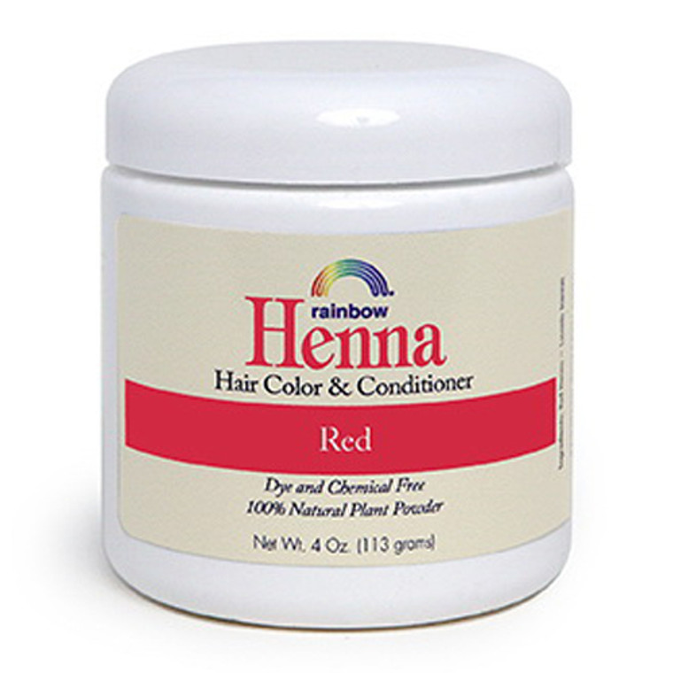 Rainbow Research Henna Hair Color And Conditioner, Red - 4 Oz