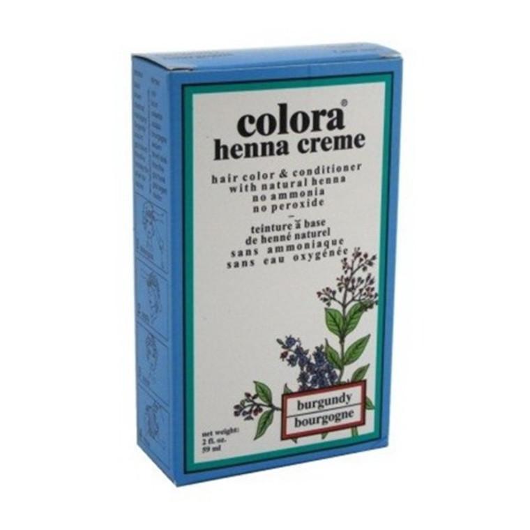 Colora Henna Creme Burgundy Hair Color, 2 Oz